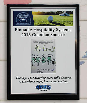 Pinnacle Hospitality Systems 2018 Guardian Sponsor. Thank you for believing every child deserves to experience hope, homes and healing. 4KIDS