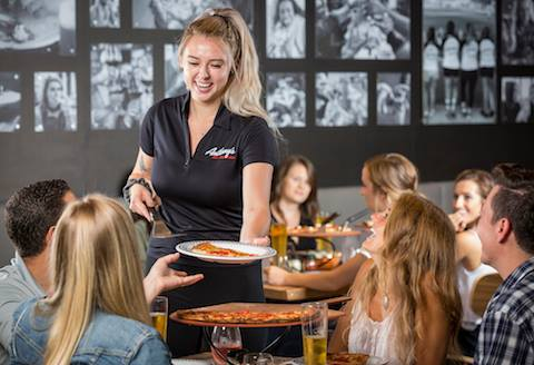 PointofSale_Waitress_Serving_Pizza_Anthonys_Coal_Fired_Pizza
